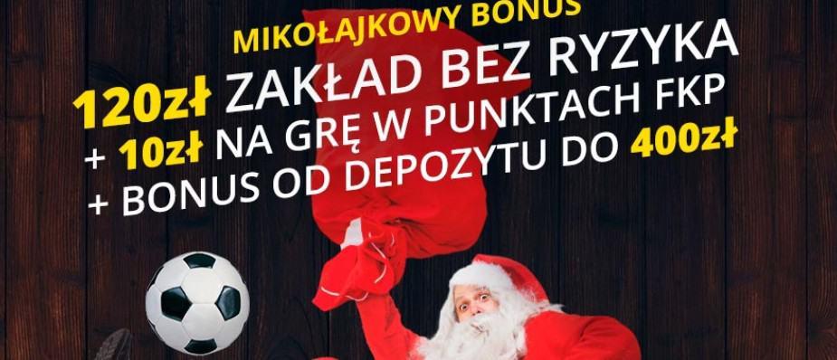 Bonus na Mikołajki w Fortunie. Odbierz 530 PLN za darmo!