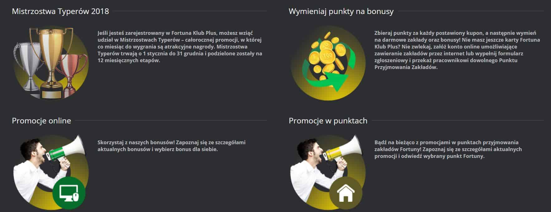 Statystyki bukmacherskie w Fortunie