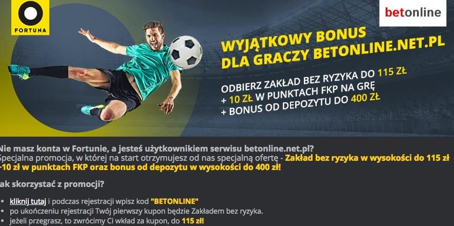 kod bonusowy fortuna