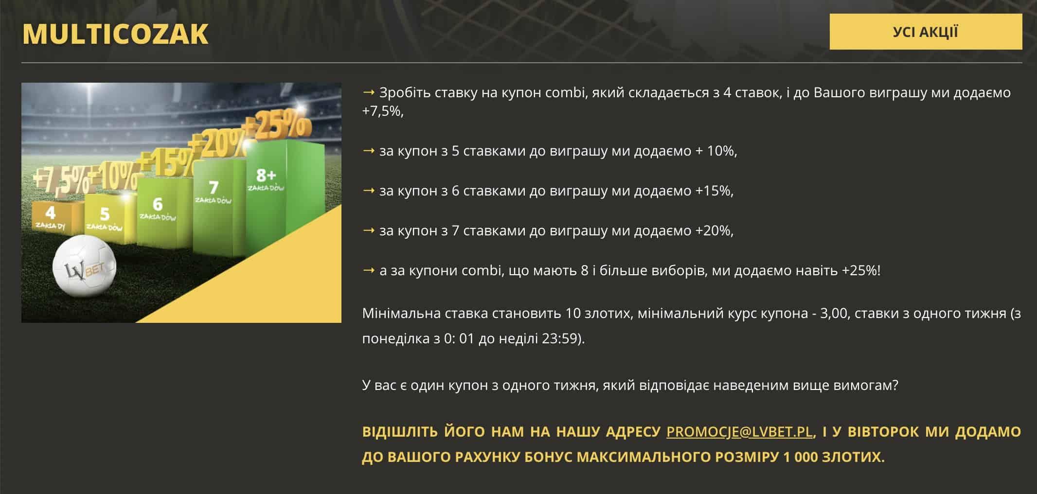 Polski bukmacher dla obywateli Ukrainy