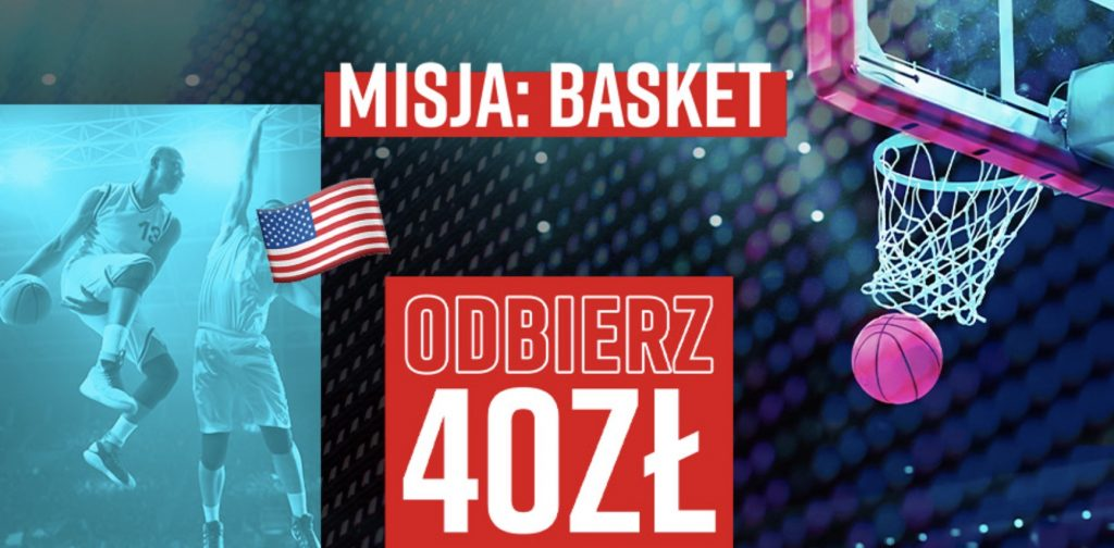 Betclic daje 40 PLN na NBA. Obstawianie z kasąw Misji Basket!