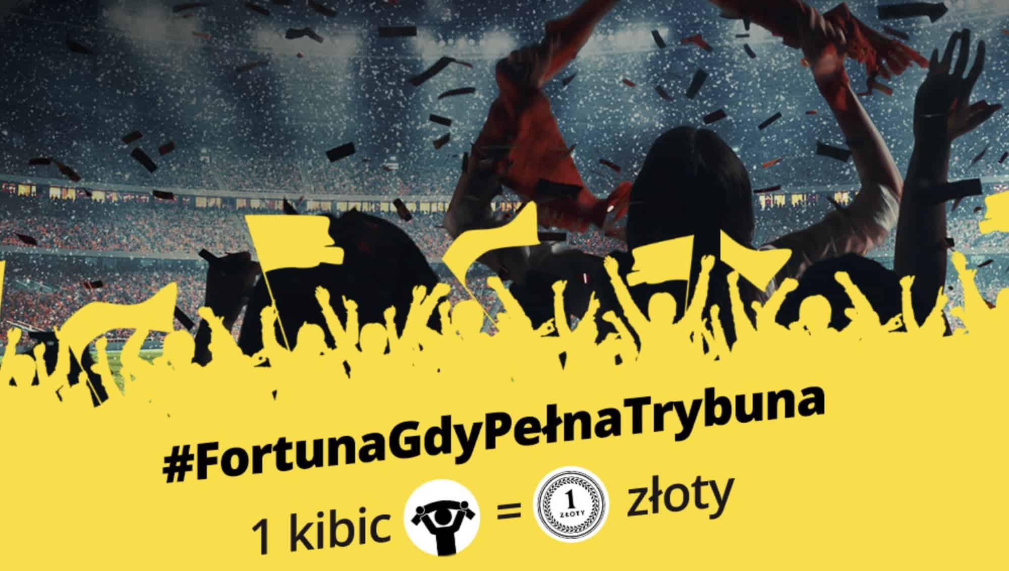 Fortuna na pomoc dzieciom. 1 kibic na trybunach = 1 PLN dla chorych!