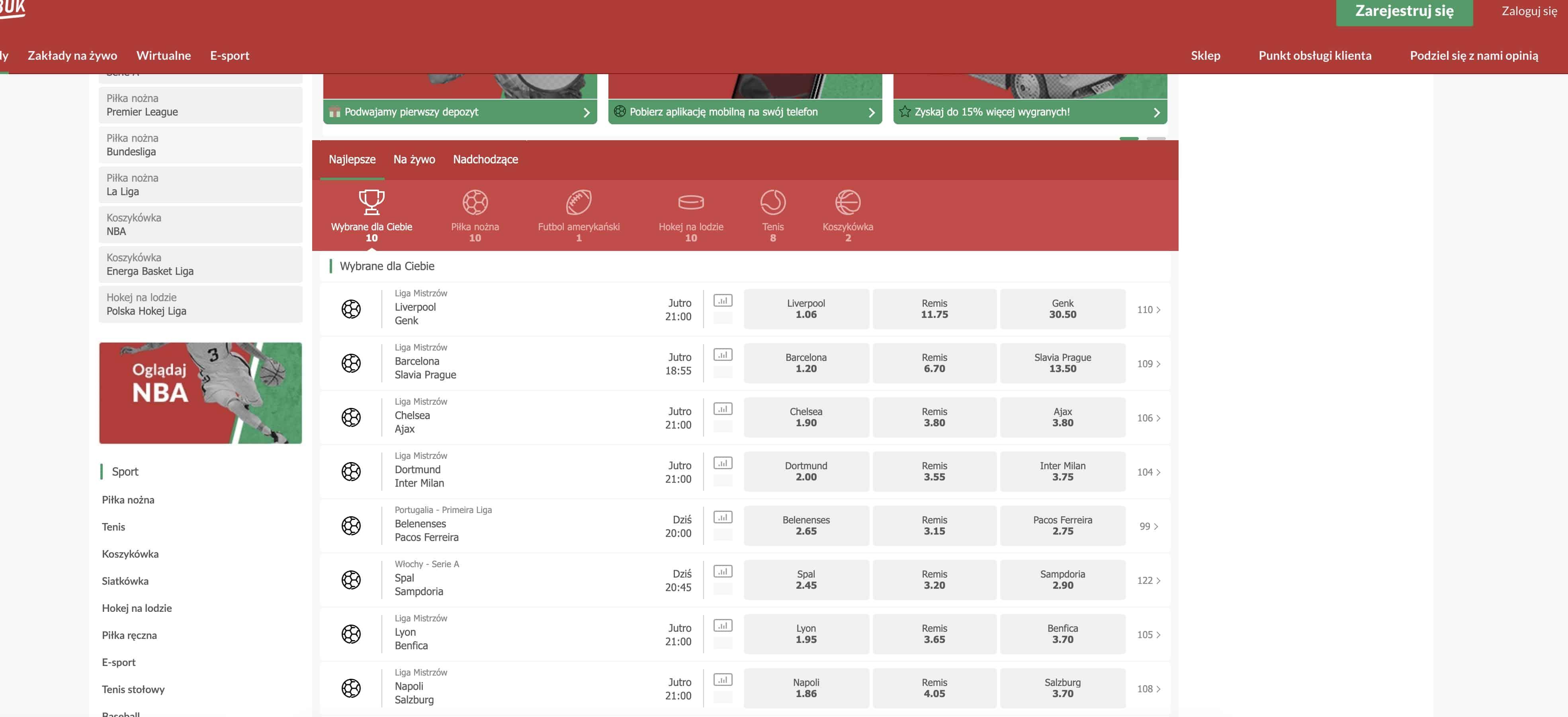 aplikacja mobilna polskie zakłady bukmacherskie