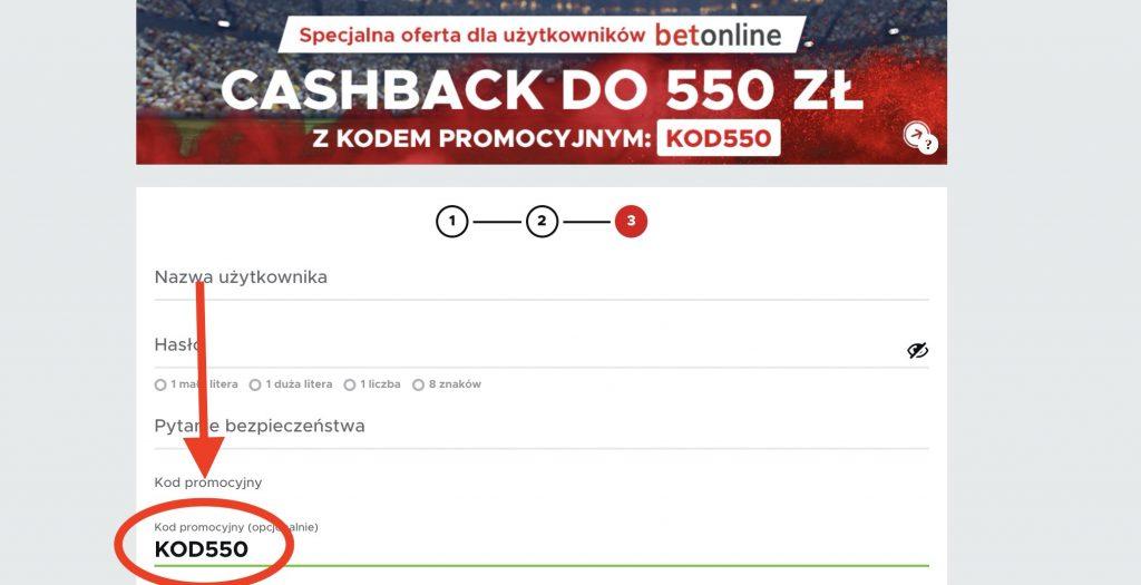 Betclic kod bonusowy. KOD550 - cashback 550 PLN do zdobycia!