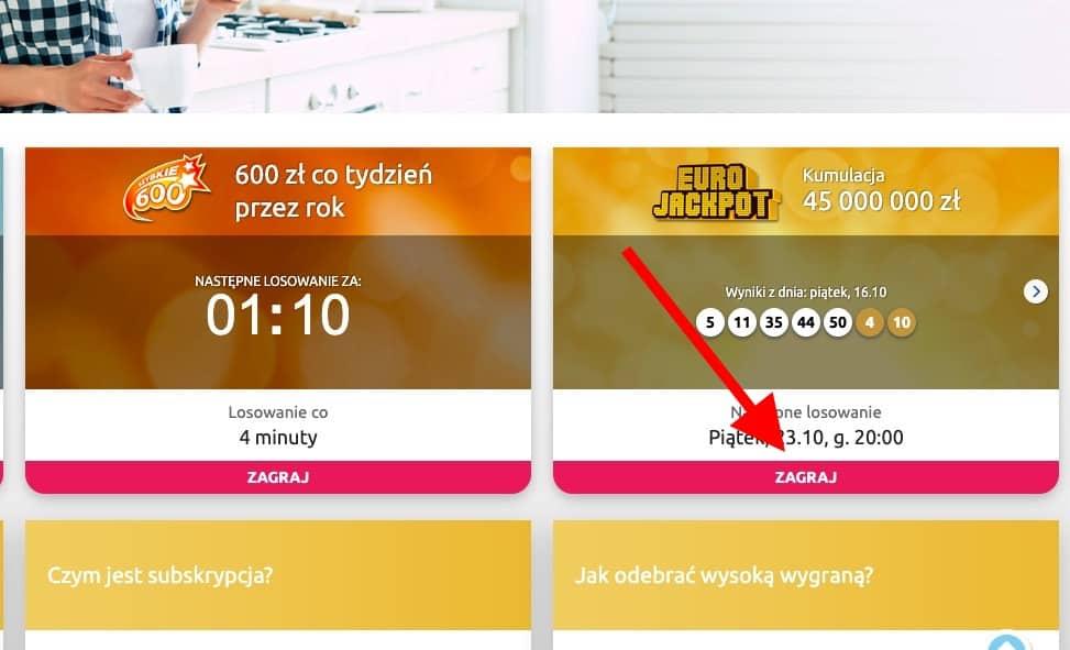 Jak grać w Eurojackpot online?