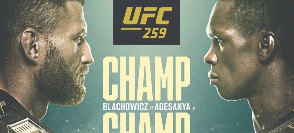 UFC 259 online za darmo u bukmachera Fortuna!
