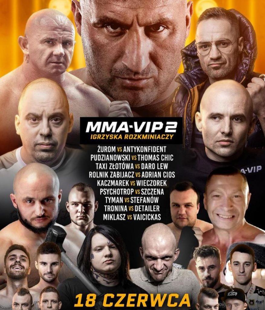 Oficjalny plakat gali MMA VIP 2